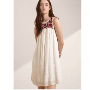 Aritzia Wilfred Allier Floral Embroidered Dress